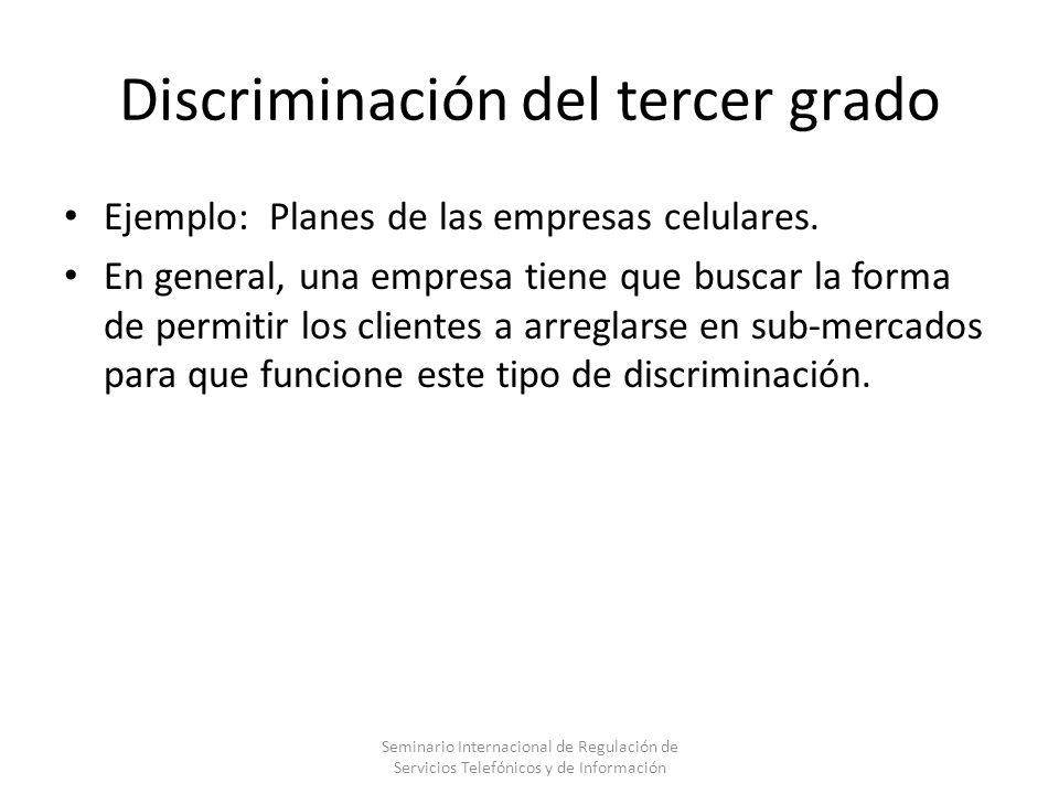 Discriminación del tercer grado
