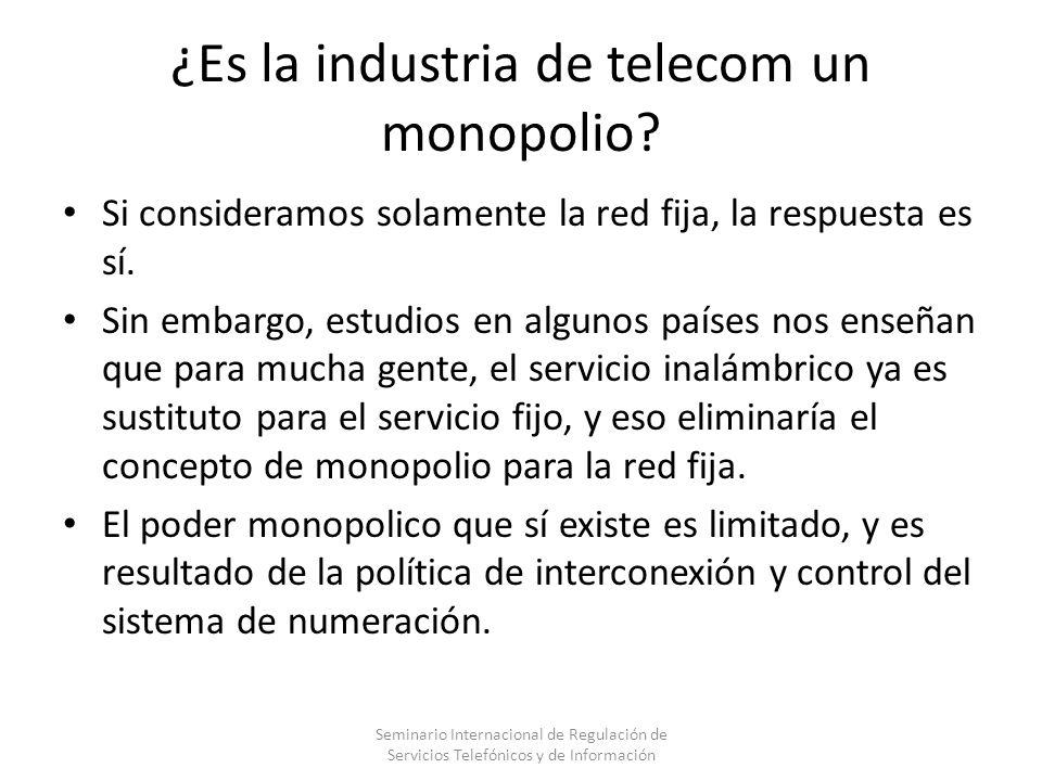 ¿Es la industria de telecom un monopolio