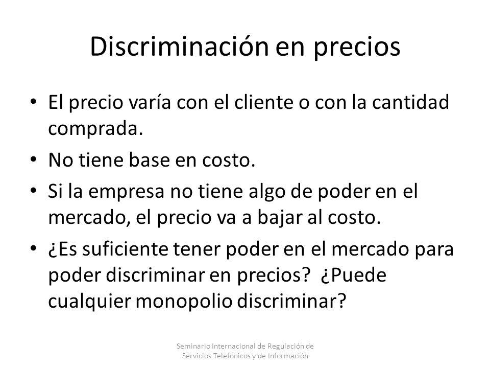 Discriminación en precios