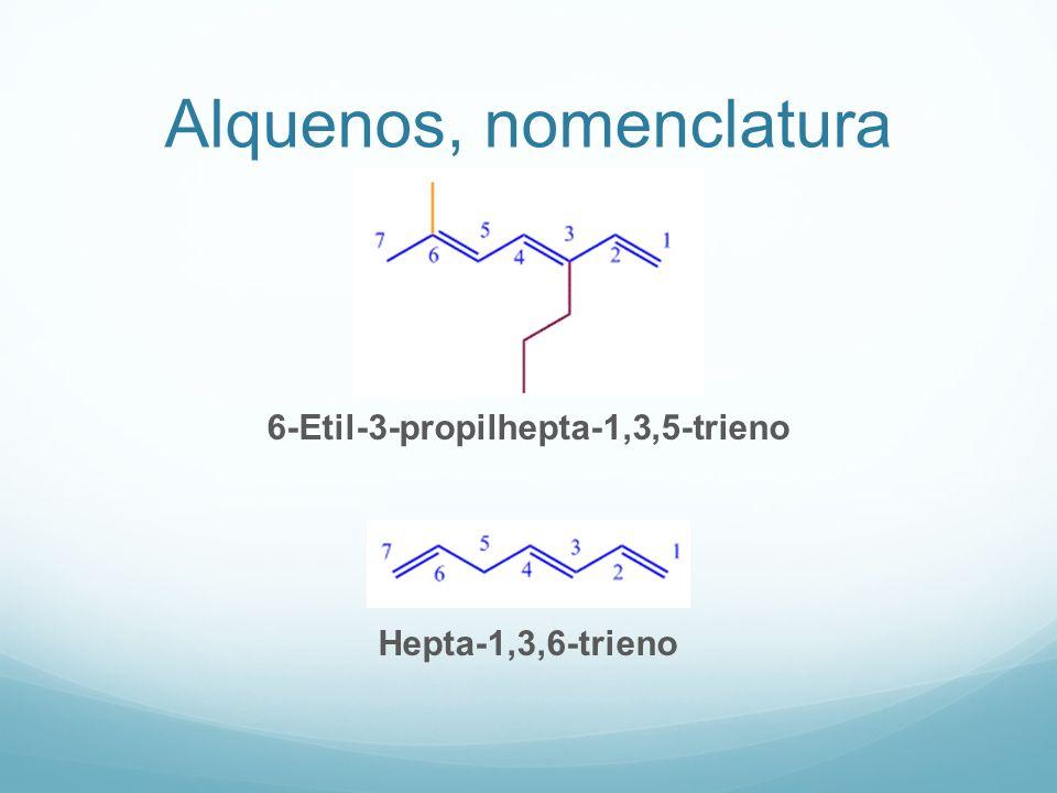 Alquenos, nomenclatura