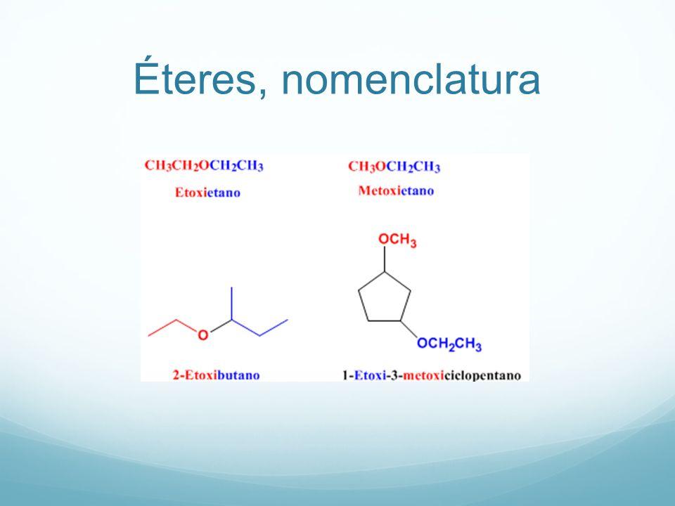 Éteres, nomenclatura