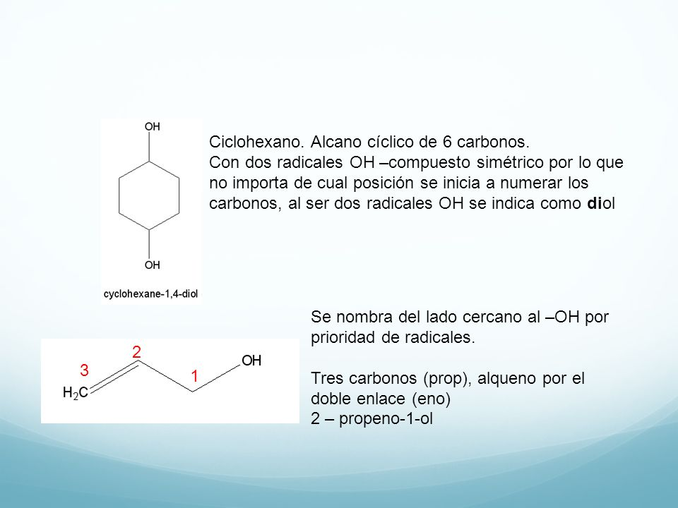 Ciclohexano. Alcano cíclico de 6 carbonos.