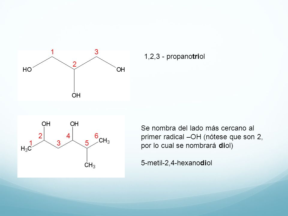 1 3 1,2,3 - propanotriol. 2.