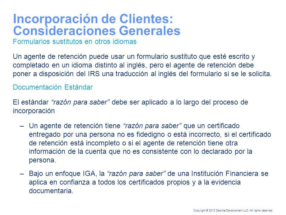 Incorporación de Clientes: Consideraciones Generales