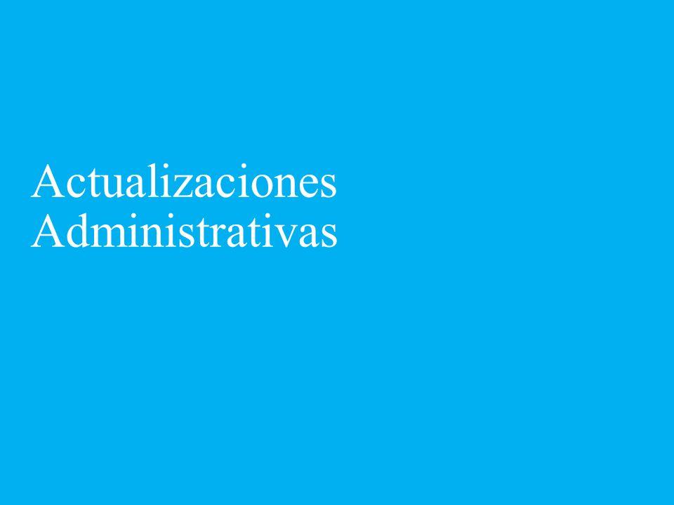 Actualizaciones Administrativas