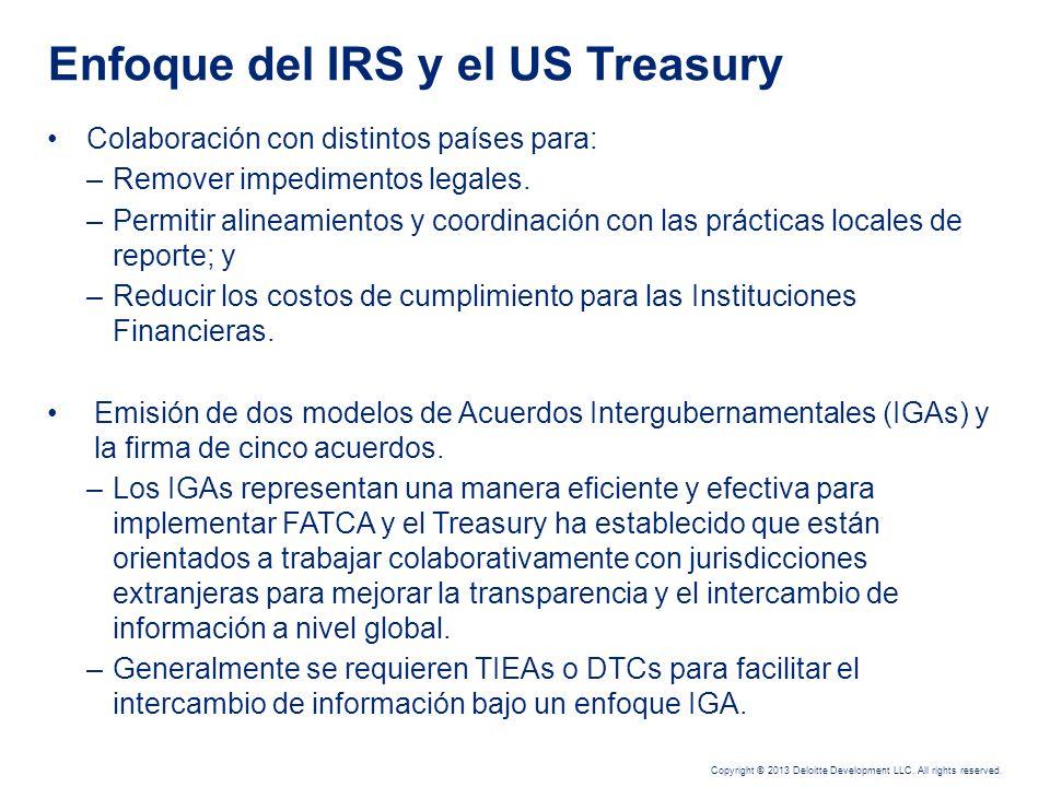 Enfoque del IRS y el US Treasury