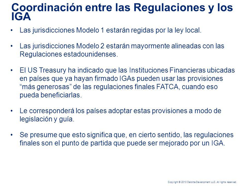 Coordinación entre las Regulaciones y los IGA