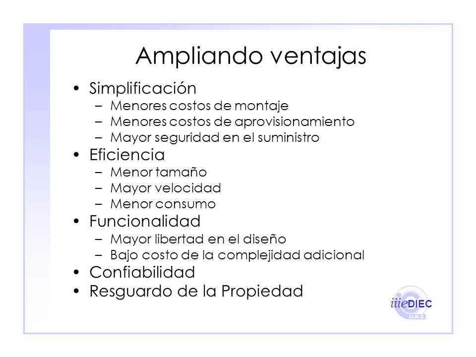 Ampliando ventajas Simplificación Eficiencia Funcionalidad