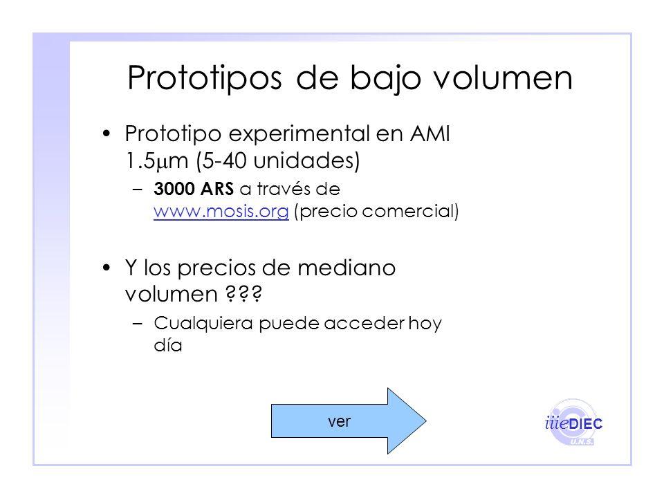 Prototipos de bajo volumen
