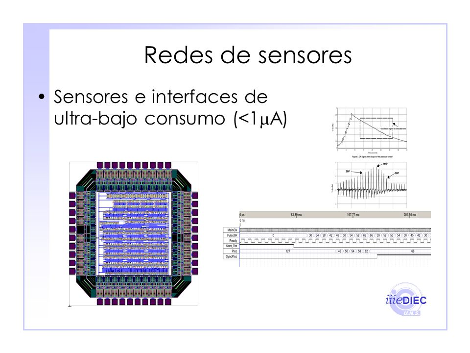 Redes de sensores Sensores e interfaces de ultra-bajo consumo (<1A)