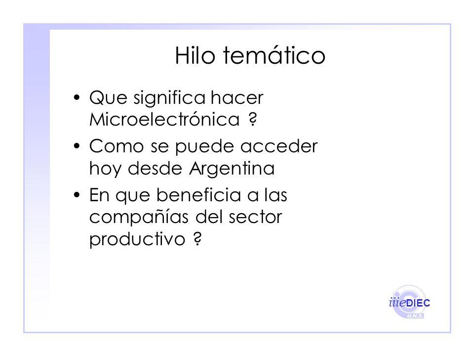 Hilo temático Que significa hacer Microelectrónica