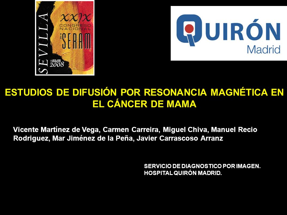 ESTUDIOS DE DIFUSIÓN POR RESONANCIA MAGNÉTICA EN EL CÁNCER DE MAMA