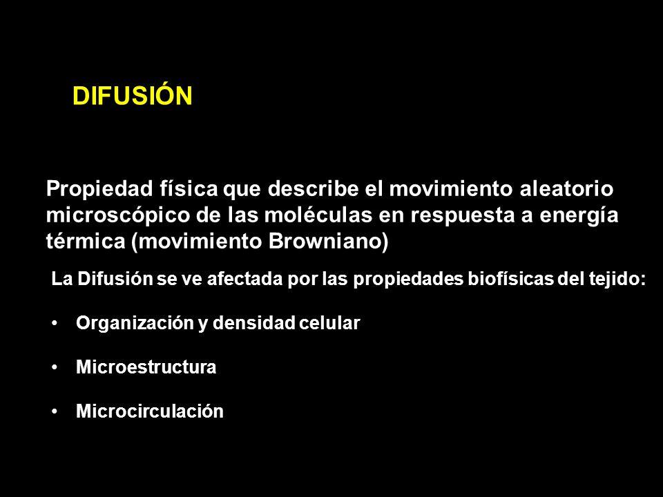 DIFUSIÓN Propiedad física que describe el movimiento aleatorio microscópico de las moléculas en respuesta a energía térmica (movimiento Browniano)