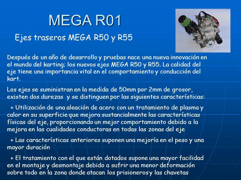 MEGA R01 Ejes traseros MEGA R50 y R55