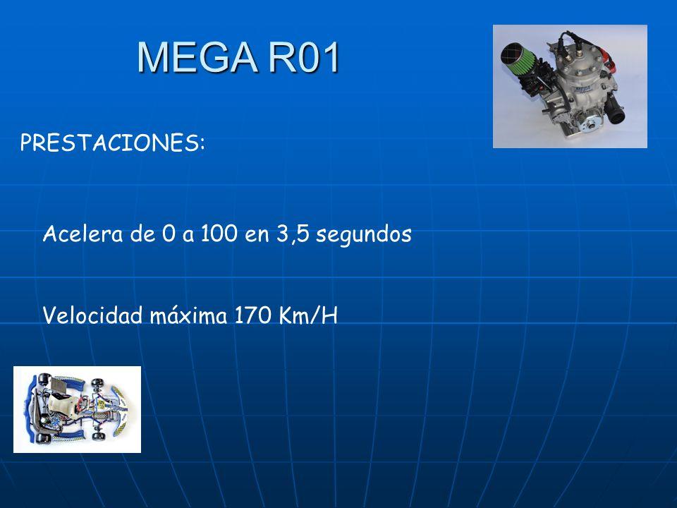MEGA R01 PRESTACIONES: Acelera de 0 a 100 en 3,5 segundos