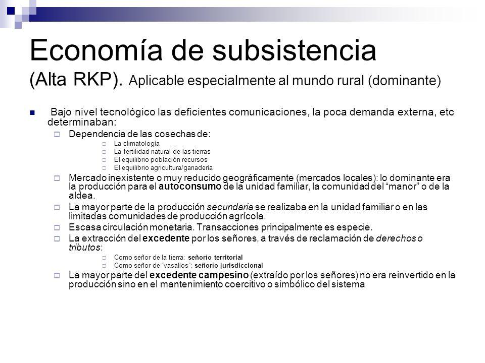 Economía de subsistencia (Alta RKP)