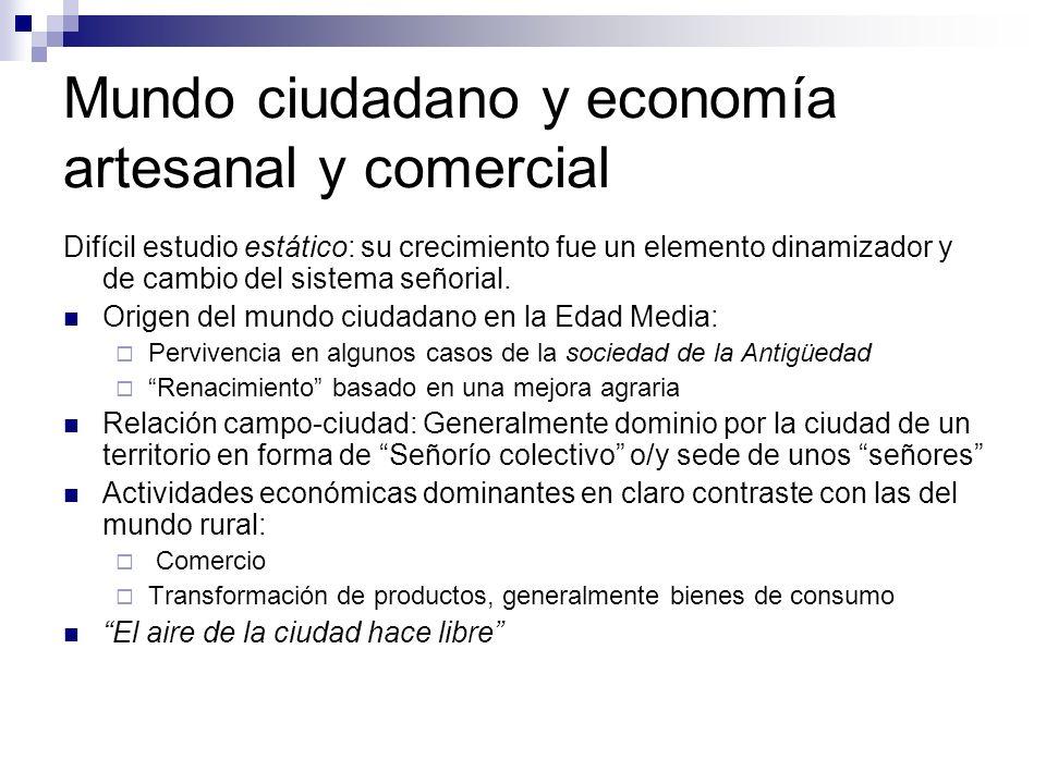 Mundo ciudadano y economía artesanal y comercial