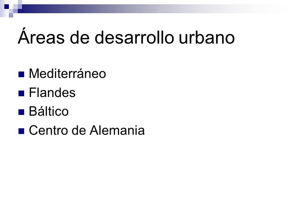 Áreas de desarrollo urbano