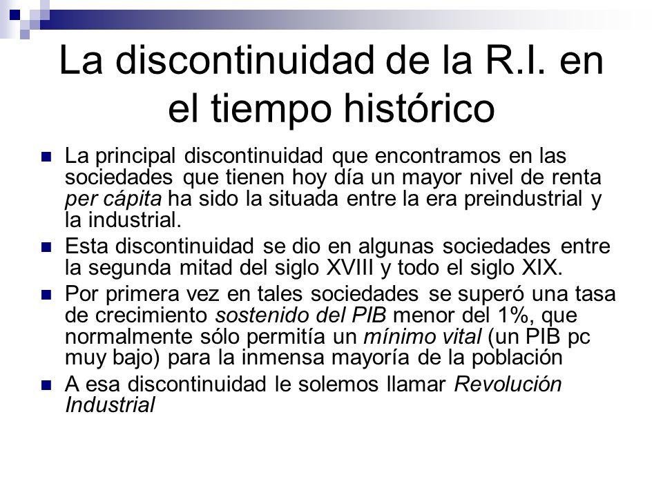 La discontinuidad de la R.I. en el tiempo histórico