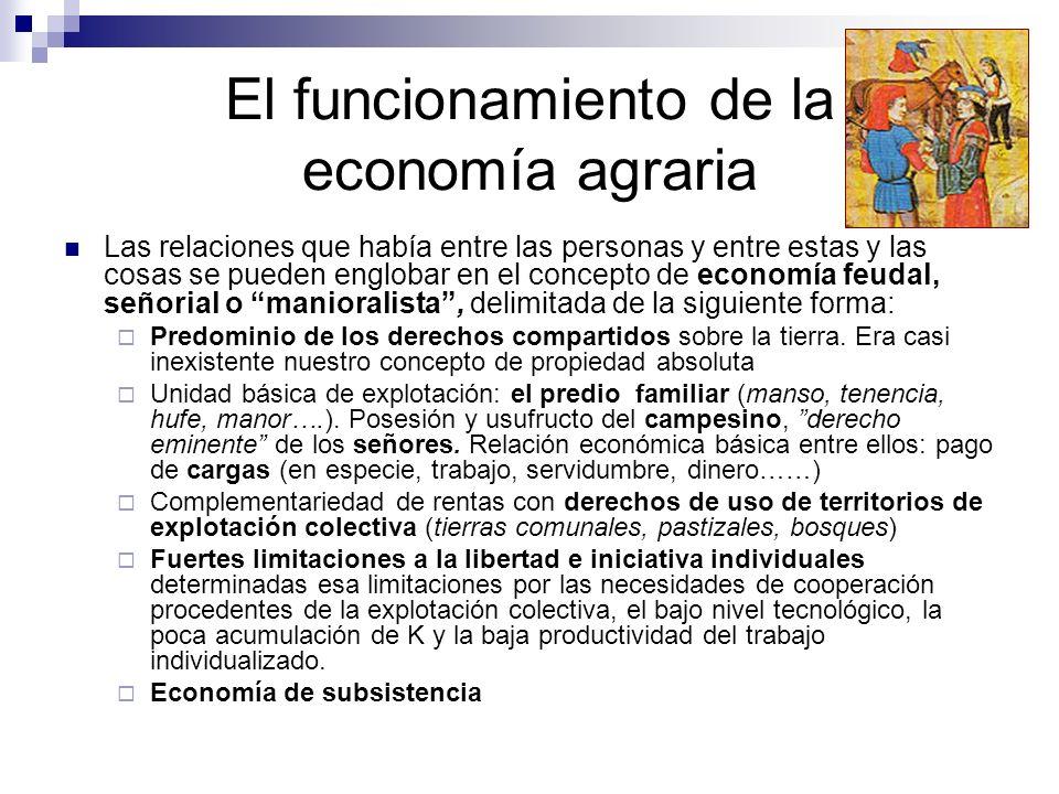 El funcionamiento de la economía agraria