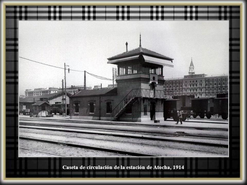 Caseta de circulación de la estación de Atocha, 1914