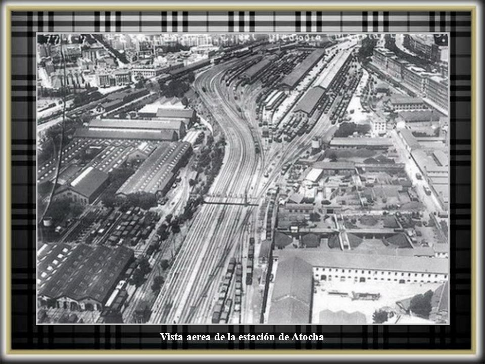 Vista aerea de la estación de Atocha