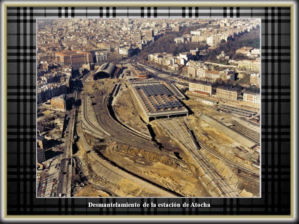Desmantelamiento de la estación de Atocha