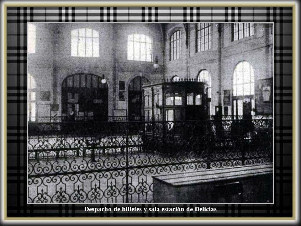 Despacho de billetes y sala estación de Delicias