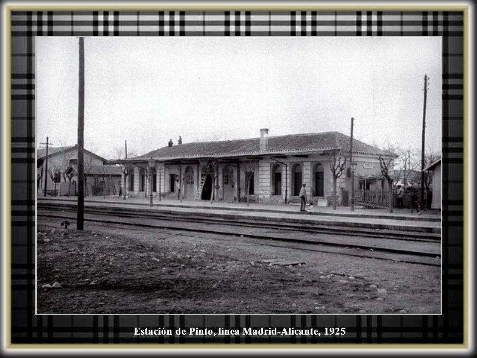 Estación de Pinto, línea Madrid-Alicante, 1925