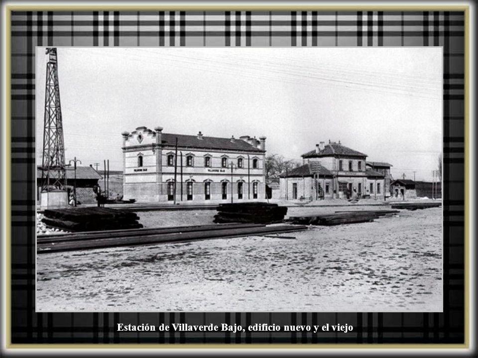 Estación de Villaverde Bajo, edificio nuevo y el viejo