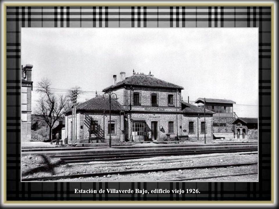 Estación de Villaverde Bajo, edificio viejo 1926.