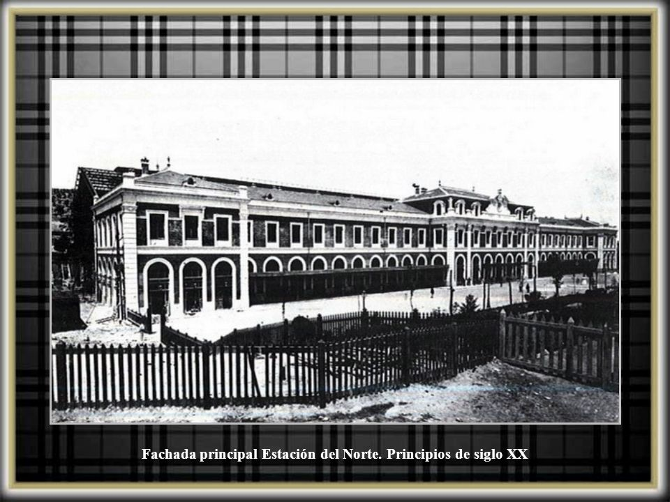 Fachada principal Estación del Norte. Principios de siglo XX