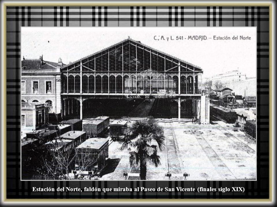 Estación del Norte, faldón que miraba al Paseo de San Vicente (finales siglo XIX)