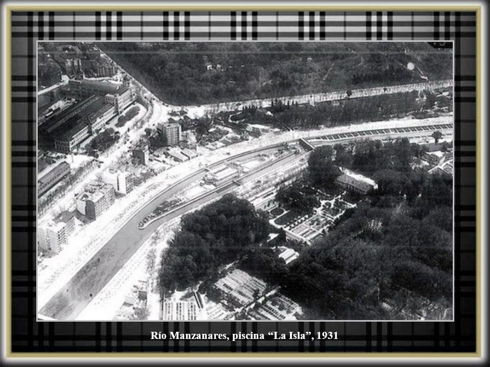 Río Manzanares, piscina La Isla , 1931