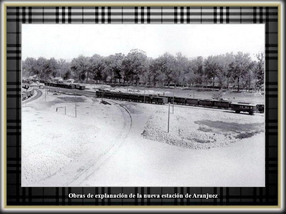 Obras de explanación de la nueva estación de Aranjuez
