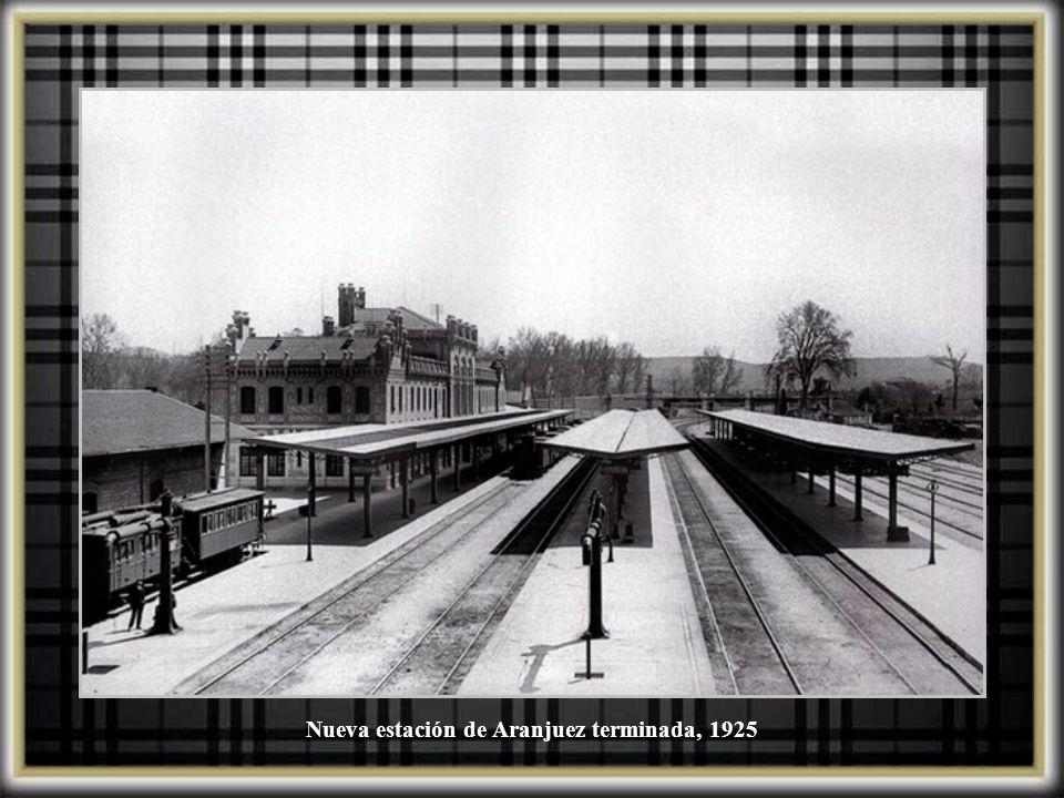 Nueva estación de Aranjuez terminada, 1925
