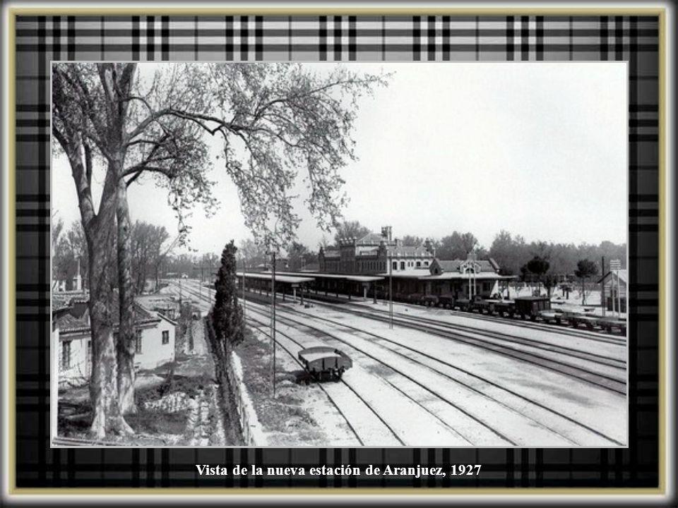 Vista de la nueva estación de Aranjuez, 1927