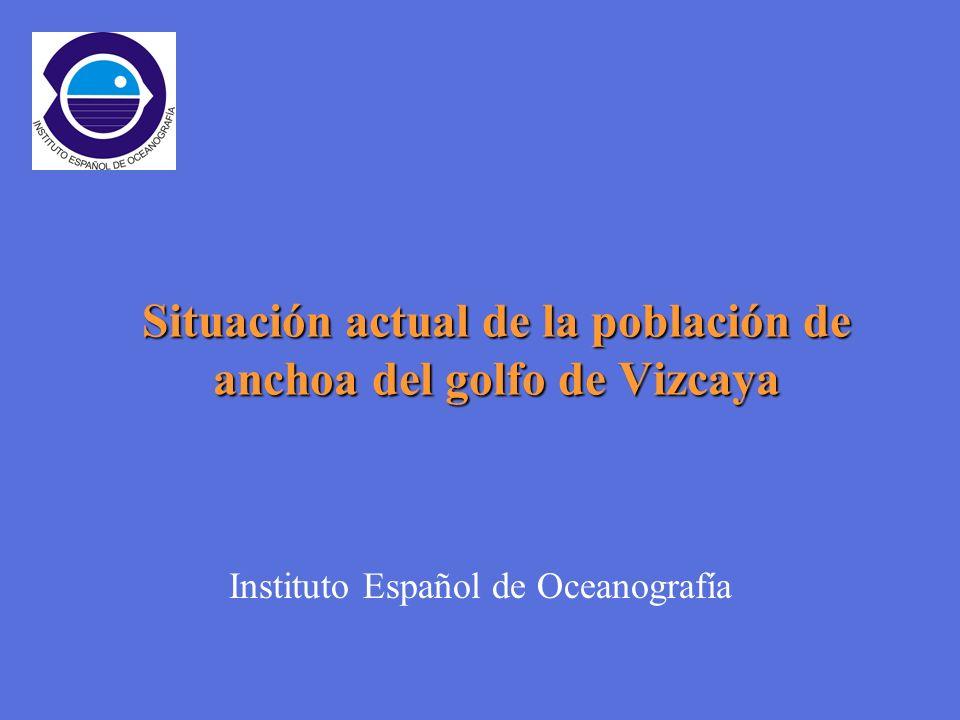 Situación actual de la población de anchoa del golfo de Vizcaya