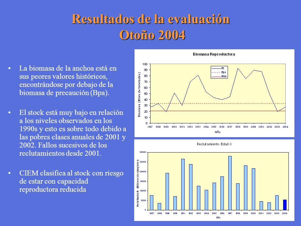 Resultados de la evaluación Otoño 2004