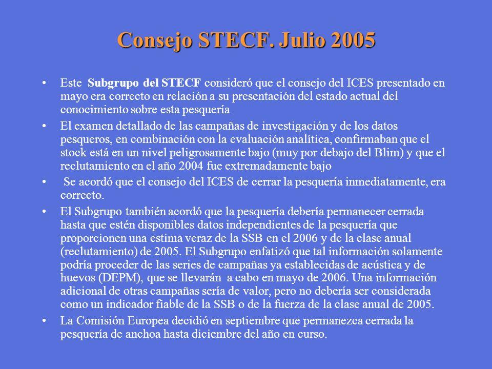 Consejo STECF. Julio 2005
