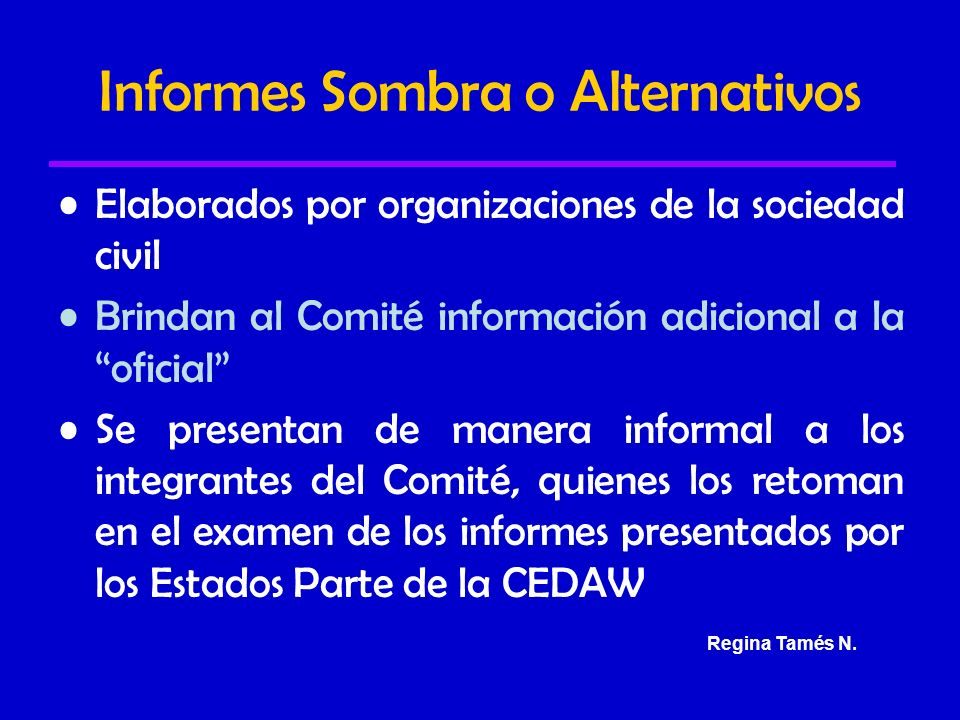 Informes Sombra o Alternativos
