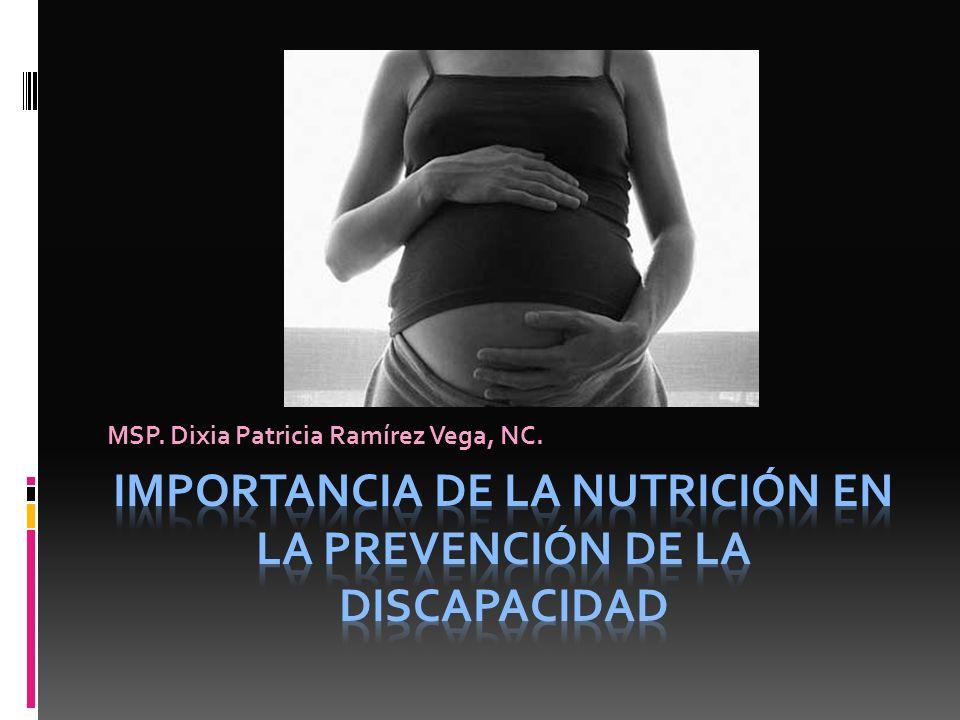 Importancia de la Nutrición en la prevención de la discapacidad