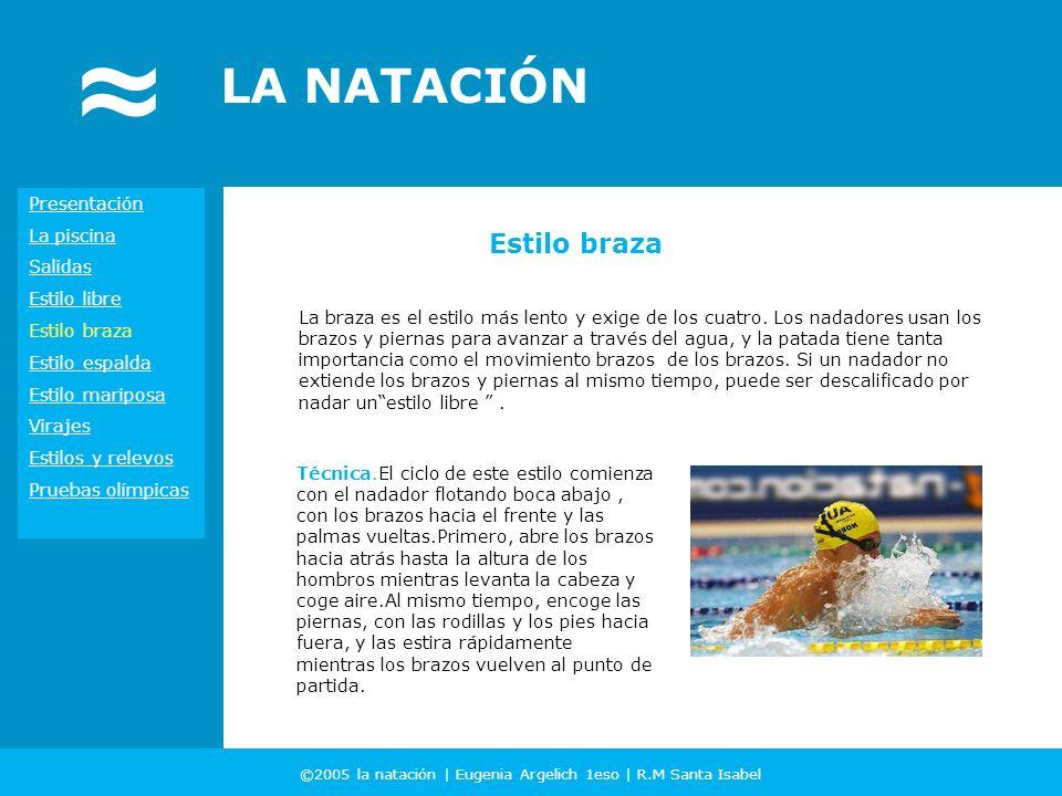 ©2005 la natación | Eugenia Argelich 1eso | R.M Santa Isabel