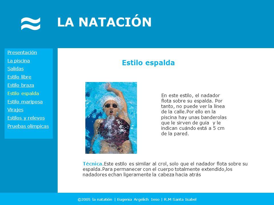 ©2005 la natatión | Eugenia Argelich 1eso | R.M Santa Isabel