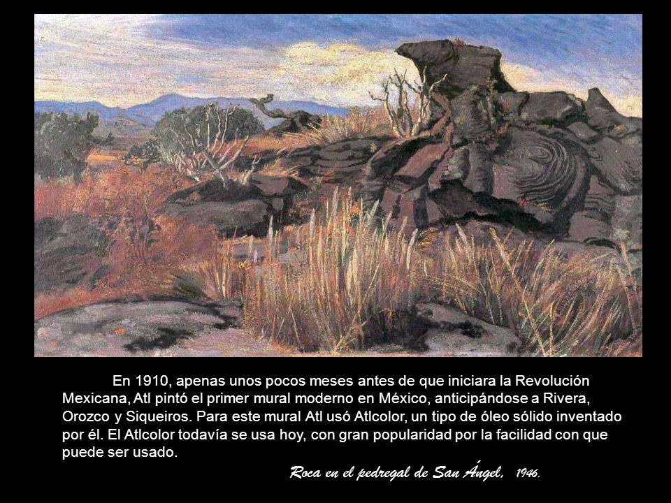 Roca en el pedregal de San Ángel, 1946.