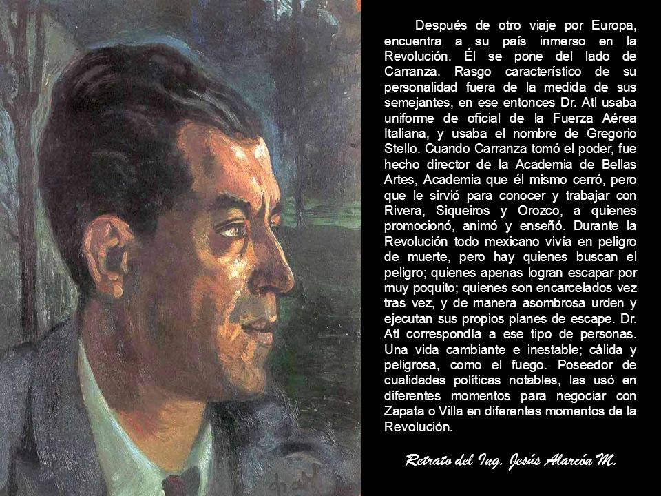 Retrato del Ing. Jesús Alarcón M.