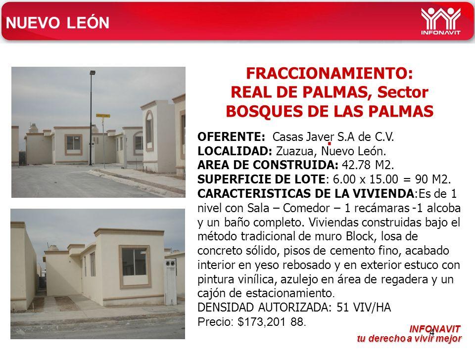 FRACCIONAMIENTO: REAL DE PALMAS, Sector BOSQUES DE LAS PALMAS