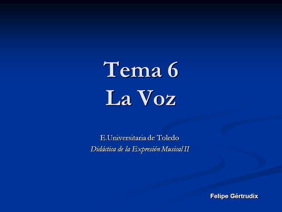 E.Universitaria de Toledo Didáctica de la Expresión Musical II