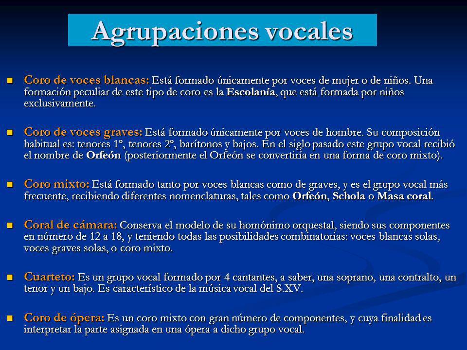 Agrupaciones vocales