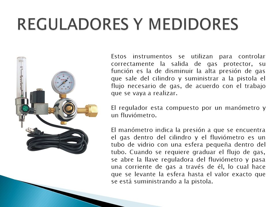 REGULADORES Y MEDIDORES